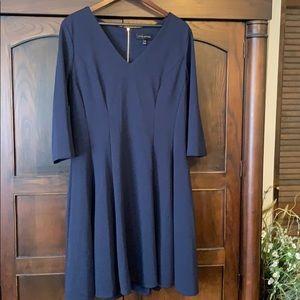 Navy Lane Bryant A-line dress